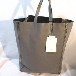 SOLD - NEW CELINE GUSSET CABAS SMOKE LUGGAGE Tote